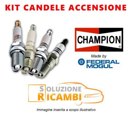 KIT 4 CANDELE CHAMPION FIAT PANDA /'80-/'04 1100 4x4 40 KW 54 CV