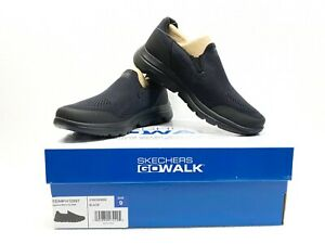 Skechers-Men-039-s-Go-Walk-216039-Ultra-GO-Cushioning-Black-Slip-On-Shoes-NWB