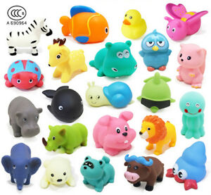 13Pcs Bath Time Baby Kids Toys Bathing Environmental Animal Toy Set with Sound