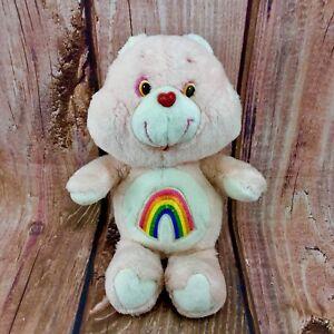 VINTAGE-1980s-Cheer-Orso-Care-Bear-13-034-Teddy-Peluche-Giocattolo-per-Bambini-in-buonissima