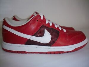 competitive price 5b403 4cf4b Details about Women's Size 7 Red White Vintage Nike Dunk Low Leather  Sneakers 317815-612