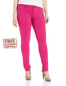 extremely unique enjoy free shipping how to orders Details about 1826 HOT PINK Moleton High Waist Womens Plus Size Skinny  Stretch Cotton Pants