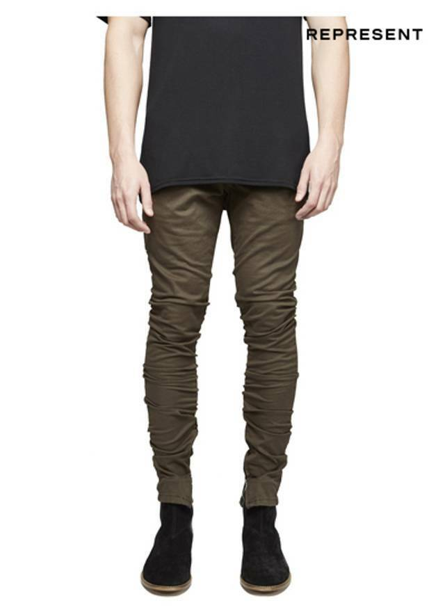 Represent Pants For Men, skinny Fit Pants With Zipped Ankle Openings