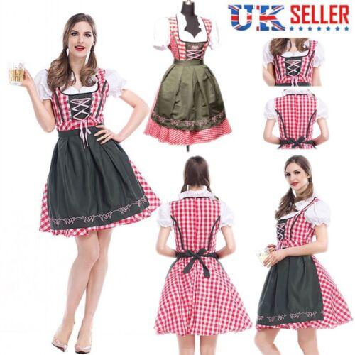 Ladies Oktoberfest Fancy Dress German Bavarian Octoberfest Beer Womens Costume