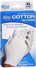 Cara 100% Dermatological Cotton Gloves X-Large 1 Pair
