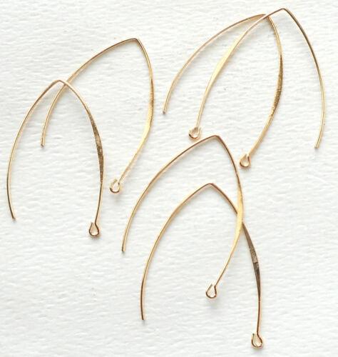 6pcs,-gold tone Marquise ear wire,Earring Hook,earring Findings,Earwire-silver