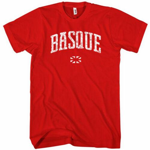 Euskadi Spain Espana Bilbao Pamplona Gasteiz Men Basque T-shirt Kids XS-4XL