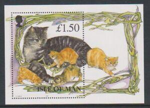 Isle-of-Man-1996-Cats-sheet-MNH-SG-MS683