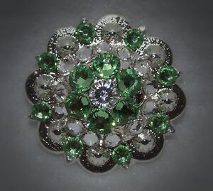 Berry Concho ~ Handcrafted with mint, lime or light green  Swarovski Elements