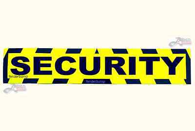 MAGNETIC SECURITY SAFETY SIGN CAR SECURITY VAN TRUCK SHED GUARD EQUIPMENT MB06