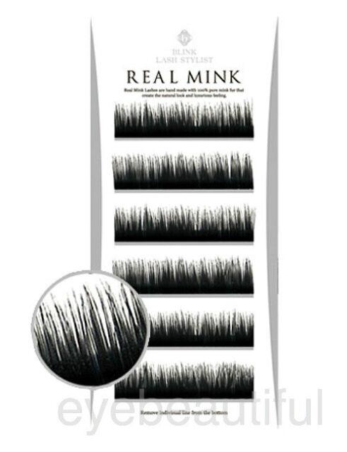 BLINK 100% Real Mink Fur Lashes C Curl for Eyelash Extension