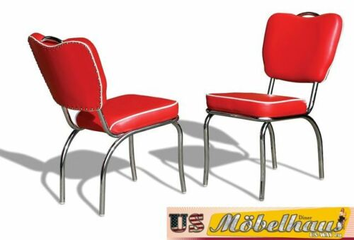 CO-26 Red Bel Air Furniture 2 Chairs  1 TO-22 Blackstone in the style of the 50er-USA