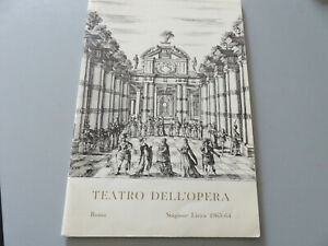 Teatro-Dell-039-Opera-Roma-Season-Lyrical-1963-1964-Booklet-Ufficiale