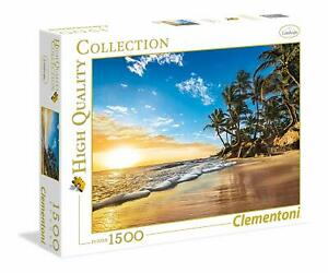 Clementoni-Puzzle-1500-pieces-High-Quality-Collection-Lever-du-soleil-tropical