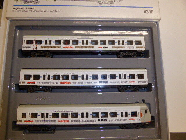 marklin 4390, 3tlg. vagoniSet SBahn con scritta marklin, come nuovo