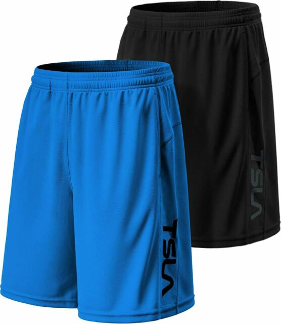 Quick Dry Sports Athletic Shorts with Pockets TSLA Mens Active Running Shorts 7 Inch Basketball Gym Traning Workout Shorts