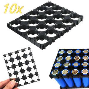 10Pcs-18650-Battery-4x5-Cell-Spacer-Radiating-Shell-Pack-Plastic-Holder-BracFJ