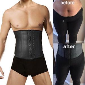 c3d7ec07d40 Men Latex Rubber Body Shaper Slimming Waist Cincher Trainer ...