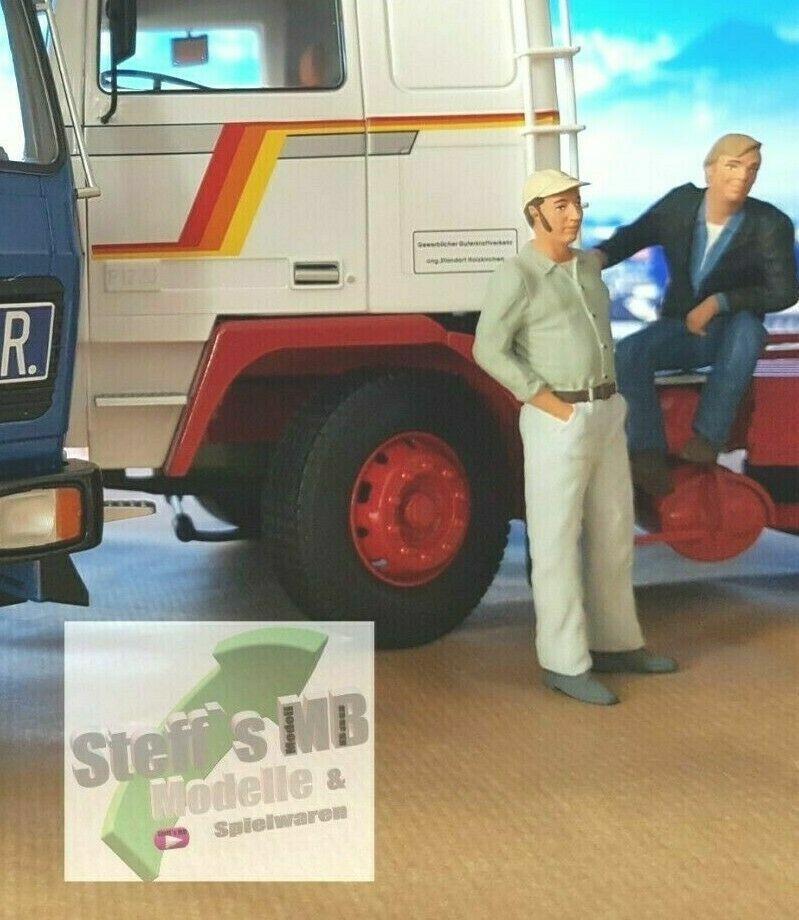 Figur Trucker Günther Willers Auf Achse 1:18 sitzend Road Kings RK18A004