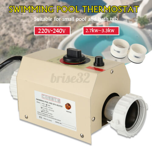 220v-240v 1pcs Water Swimming Pool /& SPA Hot Tub Bath Heater Thermostat Heating