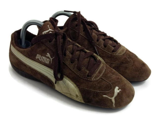 Puma Speed Cat womens brown suede lace up athletic sneakers shoes size 9