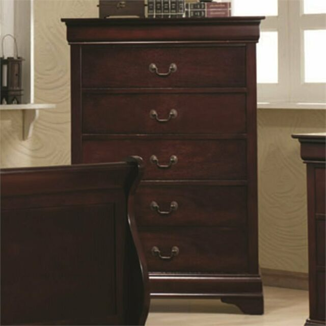 Coaster Louis Philippe Chest Red Brown
