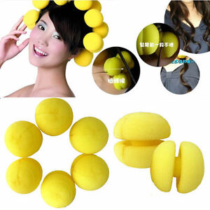 18-pcs-Yellow-Balls-Soft-Sponge-Hair-Styling-Curler-Rollers-Hair-Accessory-Pins