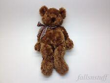 "GUND Hammond Teddy Bear Brown Soft Plaid Red Bow #15040 RARE 19"" EUC"