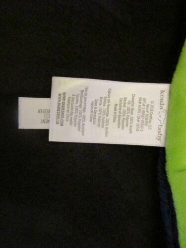 Koala Baby Lovey Security Blanket Toy Green Navy Orange Knit Fox Animal 12 x 12