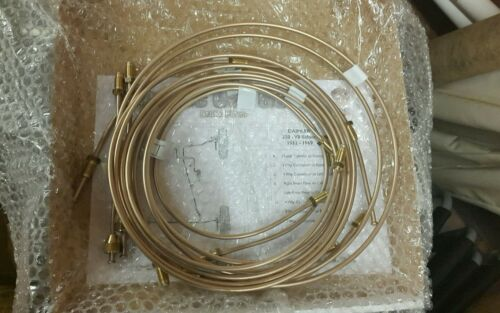 Jaguar Mk2 2.4 3.4 3.8 1959-69 brake pipe set brass fittings C//w Rubber Hoses