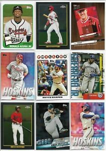 2020-Topps-Series-1-57-Card-Insert-Lot-Full-List-Topps-Choice-Now-Hoskins-Vlad