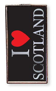 Scottish Black I Love Scotland Rectangle Magnet Home Fridge Kitchen