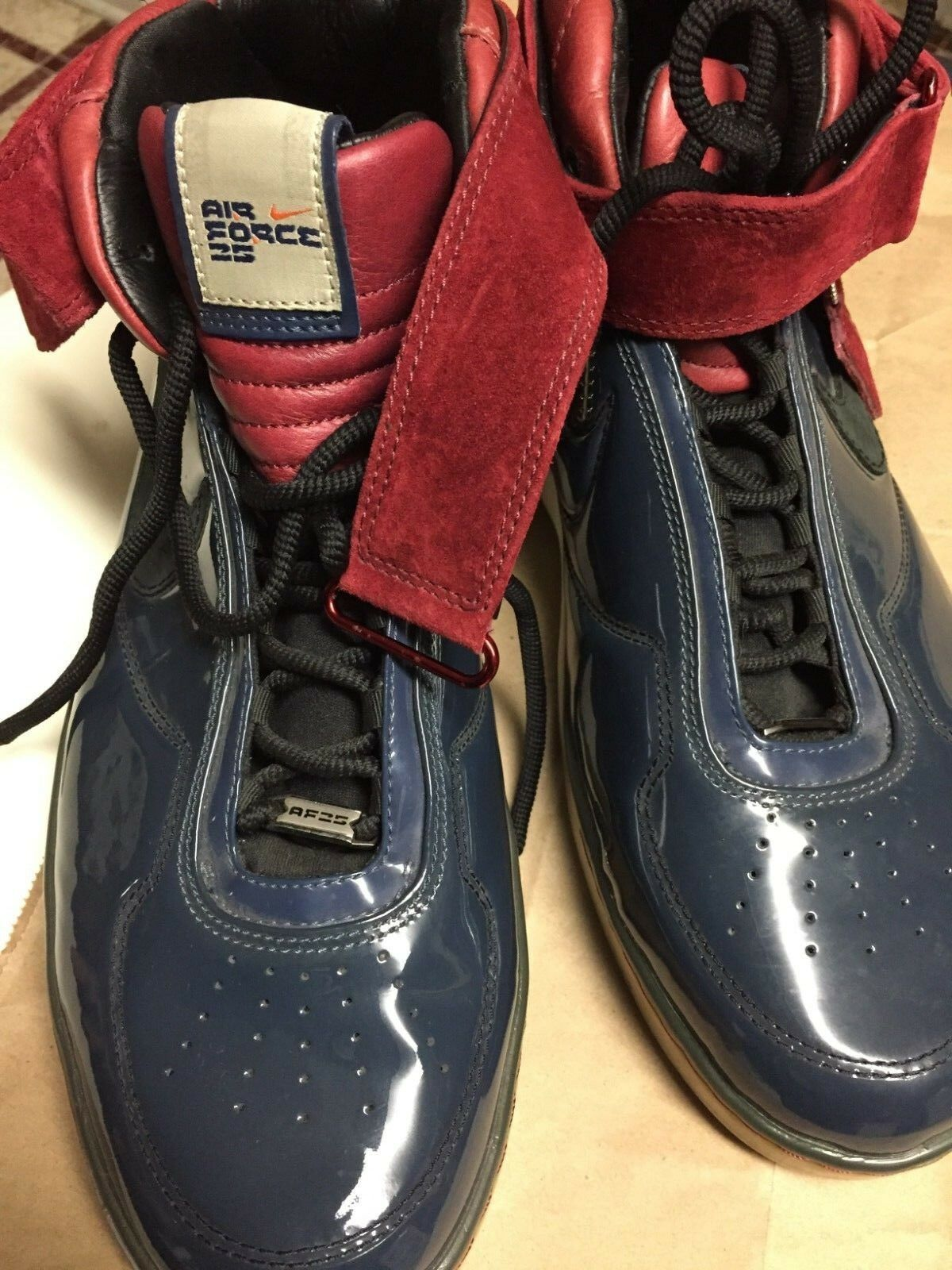 Nike Air Force 25 AF25, Navy Crimson Men's Basketball shoes- Size 14