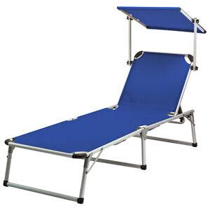 liege colorado springs blau mit sonnendach dreibeinliege sonnenliege strandliege ebay. Black Bedroom Furniture Sets. Home Design Ideas