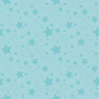 $7 Per Yard Stars Aqua Blue Tone On Quilt Fabric Riley Blake C410-20 Craft Supplies