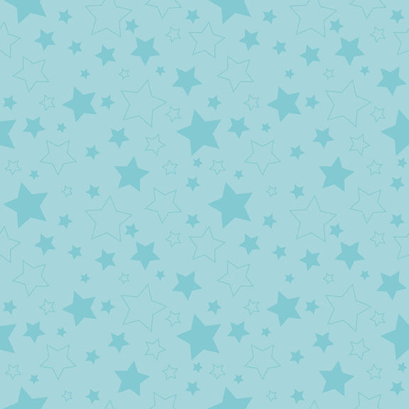 Basics Stars Aqua by RBD Designers for Riley Blake, 1/2 yard 100% cotton fabric