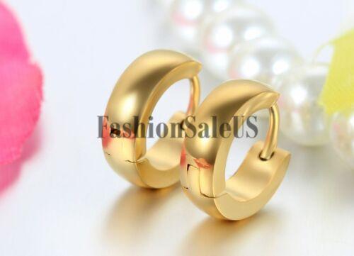 Acier Inoxydable Hot Fashion Women/'s Men/'s CALIN Hoop Boucles d/'oreilles clous 2pcs