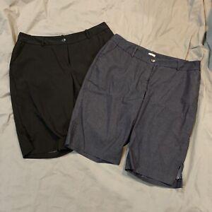 2-Worthington-Curvy-Fit-Woman-039-s-Capri-Pants-16-Black-Chambray-Denim-Blue