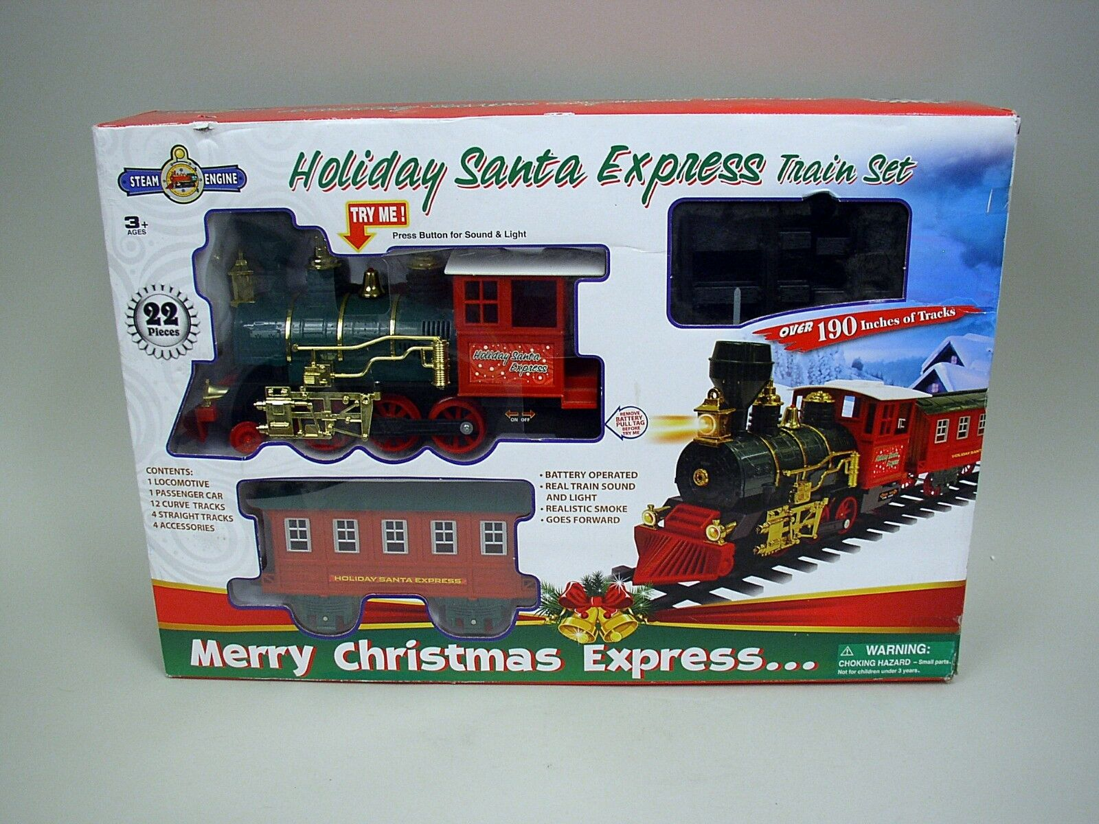 Holiday Santa Express Train Set In Original Box