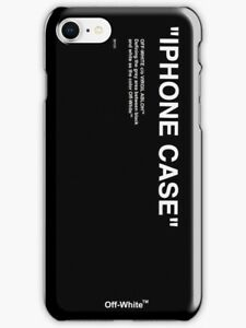 official photos 0119d e236f Details about Off White Black iPhone Case X 5SE 6 7 8 S Plus, Off White  Black Logo iPhone Case