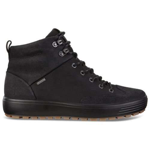 Ecco Mens Boots Soft 7 Tred Casual Lace-Up Ankle Nubuck Leather