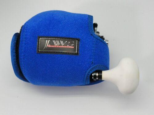 2 Blue Jaws LN Reel Cover for Accurate Boss AVET Daiwa Saltiga Shimano Trinidad