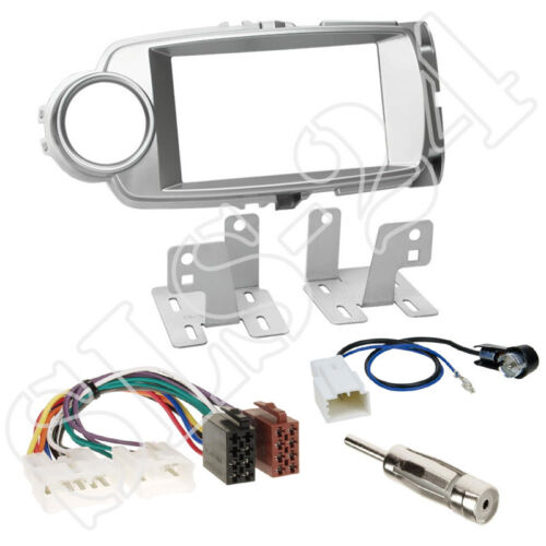 Toyota Yaris XP13 ab2011 Doppel-DIN Autoradio Blende+ISO Adapter+Antenne Stecker