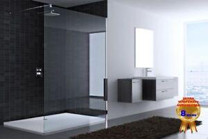 Box parete doccia color acciaio walkin gemma mm vetro cristallo