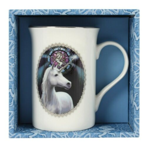 Unicorn Mug in Gift Box Enlightenment by Anne Stokes in Bone China Cup