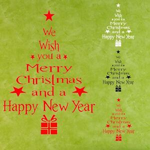 Km-Weihnachtsbaum-Buchstaben-Wand-Kunst-Aufkleber-Wandsticker-Zimmer-Vitrine