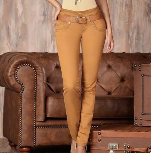 Stage Women's Brown High Waisted Butt Lifting Levanta Cola Skinny Jeans Sz US 11