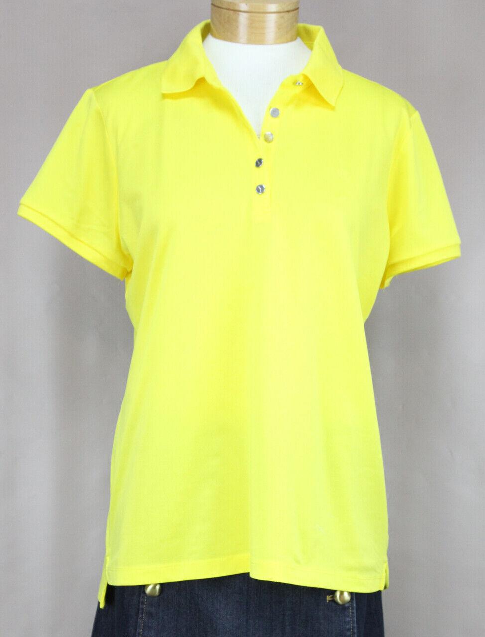 Lauren Ralph Lauren Damen Gelb Active Pique Polo Top Hemd Ret. Neu