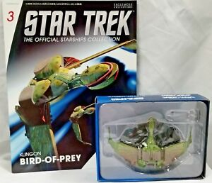 STAR-TREK-Official-Starships-Magazine-03-Klingon-Bird-of-Prey-Eaglemoss-NIB