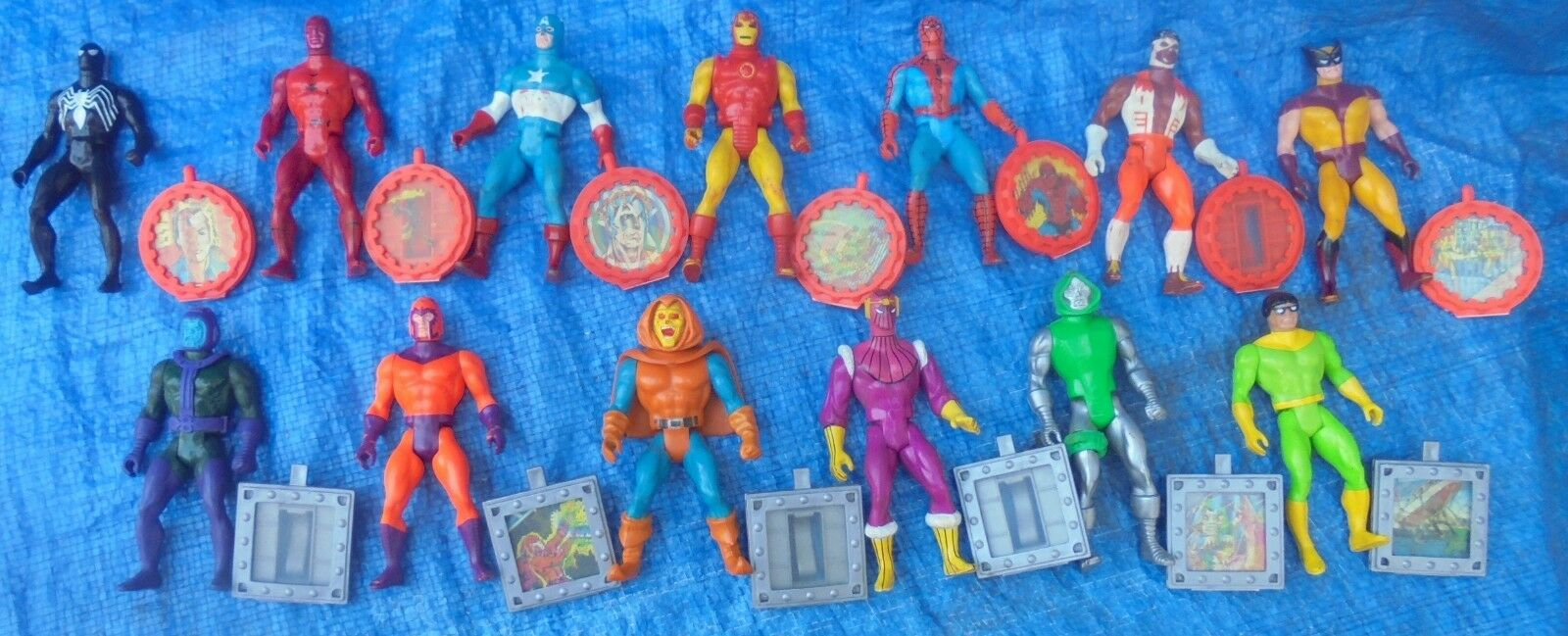 1984 Mattel Secret Wars Lot All 13 U.S. Action Figures + Shields Lot Hobgoblin